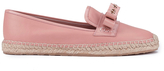 RED Valentino Women's Eyelet Bow Leather Espadrilles Nude