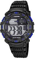 Calypso Men's Digital Watch with LCD Dial Digital Display and Black Plastic Strap K5702/7