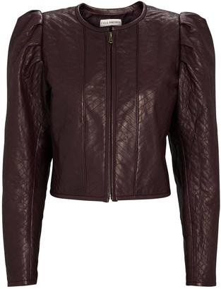Ulla Johnson Kyra Cropped Leather Jacket