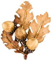 Buccellati Leaf & Acorn Brooch