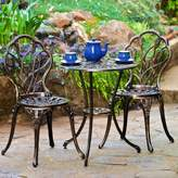 Christopher Knight Home Nassau 3pc Cast Aluminum Patio Bistro Set