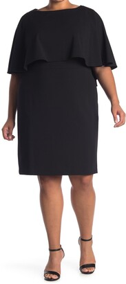 Calvin Klein Popover Ruffle Sheath Dress