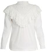 Masscob Marais lace-trimmed cotton top