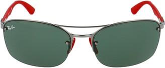 Ray-Ban X Scuderia Ferrari Rectangle Frame Sunglasses