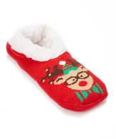 Charles Albert Red Reindeer Slipper - Women