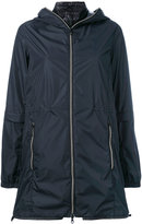 Duvetica layered hooded jacket - women - Feather Down/Polyamide - 40