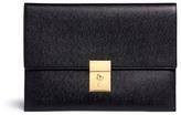 Thom Browne Lock pebble grain leather document holder