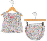 Bonpoint Girls' Floral Print Dress & Bloomers Set