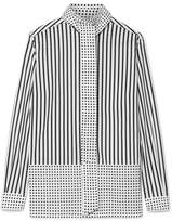 Burberry Pussy-bow Printed Cotton-poplin Blouse