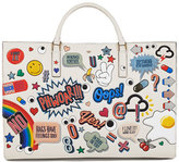 Anya Hindmarch Ebury Sticker-Print Leather Tote Bag