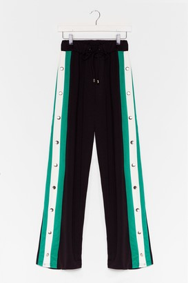Nasty Gal Womens Snaps for You Wide-Leg Jogger Trousers - Black - XS