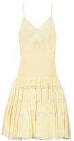 Rochas Lace-trimmed silk-jacquard dress