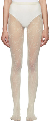 Gucci Off-White GG Tights