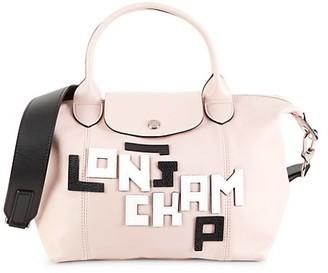 Longchamp Le Pliage Leather Top Handle Bag