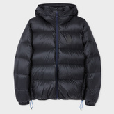 Paul Smith Men's Navy Nylon Hooded Down Jacket