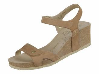 Panama Jack Julia Basics Womens Wedge Heels Sandals Brown (Taupe) 7 UK (40 EU)
