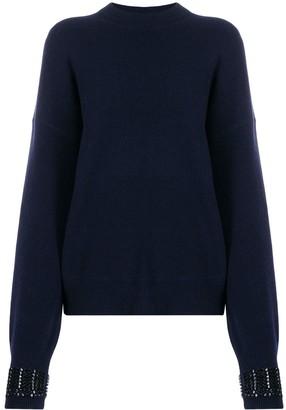 Alexander Wang embellished-cuff sweater