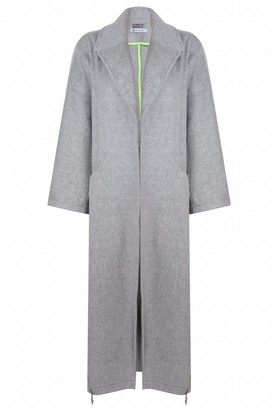 Mirimalist Wool Coat With Zippers