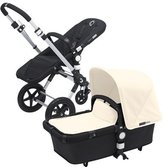 Bugaboo Cameleon 3 Stroller Black Base With New Extendable Sun Canopy (Off-White) by