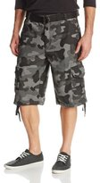 Southpole Men's All-Season Belted Ripstop Cargo Short