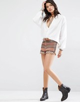 MANGO Embellished Short