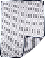 Living Textiles Jersey Reversible Blanket, Navy