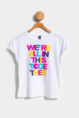francesca's We're All In This Together Tee - White