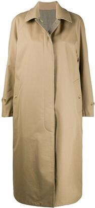 MACKINTOSH FYVIE Honey x Glen check reversible overcoat | LM-1039R