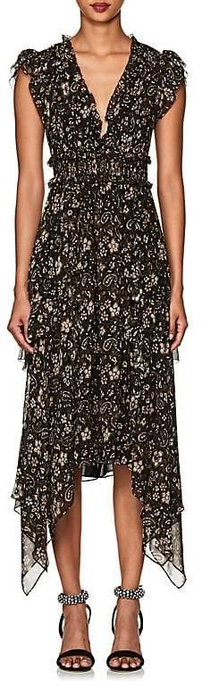 Ulla Johnson Women's Ressie Floral & Paisley Silk Asymmetric Dress