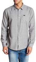 RVCA Curren Long Sleeve Slim Fit Plaid Shirt