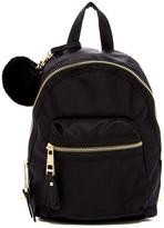 Madden-Girl Bold Faux Fur Pompom Mini Nylon Backpack