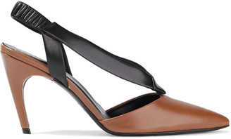 Roger Vivier Two-tone Leather Slingback Pumps