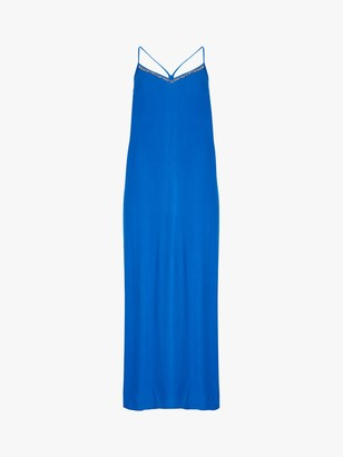Mint Velvet Sun Dress, Azure Blue