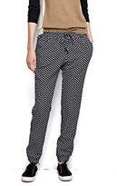 Classic Women's Petite Track Pants-Black/Ivory Print