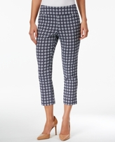 Charter Club Petite Cambridge Printed Pull-On Capri Pants, Created for Macy's