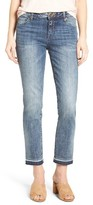 KUT from the Kloth Petite Women's Reese Crop Straight Leg Jeans