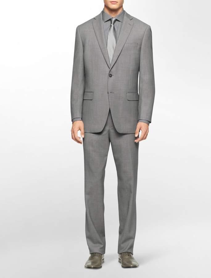 Calvin Klein body slim fit grey suit