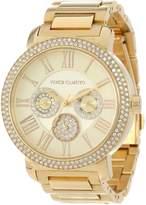 Vince Camuto Women's VC/5000CHGB Swarovski Crystal Accented -Tone Multi-Function Bracelet Watch