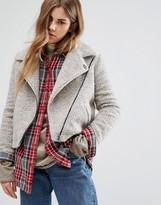 Obey Oversized Wool Blend Biker Jacket