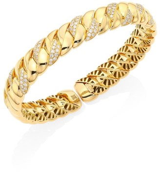 Brera Via 18K Yellow Gold & Diamond Bangle