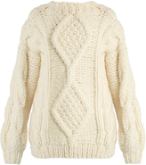 I LOVE MR MITTENS Angeline Aran-knit wool sweater