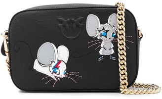 Pinko Mouse Embroidered Shoulder Bag