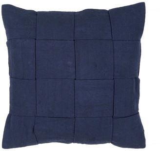 """Jaipur Living Merrin Navy Solid Poly Throw Pillow 22"""""""