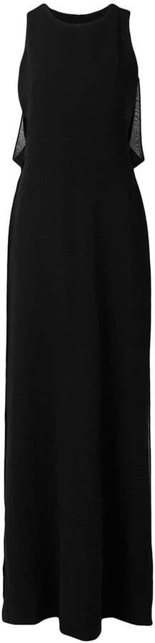 Max Mara long georgette dress