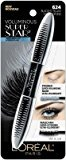 L'Oreal Lor Vol Sperstr Wtp Blkis Size .41z Voluminous Superstar 624 Blackest Black Waterproof Mascara .40oz
