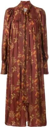 UMA WANG botanical print long dress