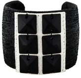 Ted Rossi Exotic Leather & Crystal Cuff