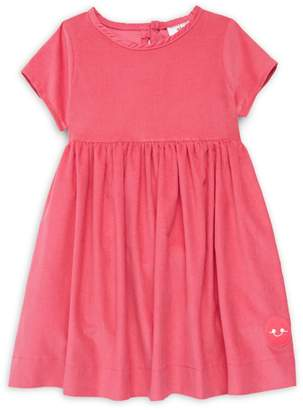 Smiling Button Little Girl's & Girl's Corduroy Dress