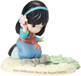 Precious Moments Disney Girl As Mulan By Pond Figurine
