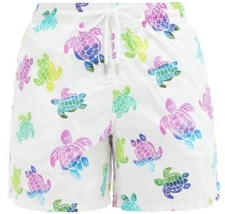 Vilebrequin Moorea Rainbow Turtle-print Shell Swim Shorts - White Multi